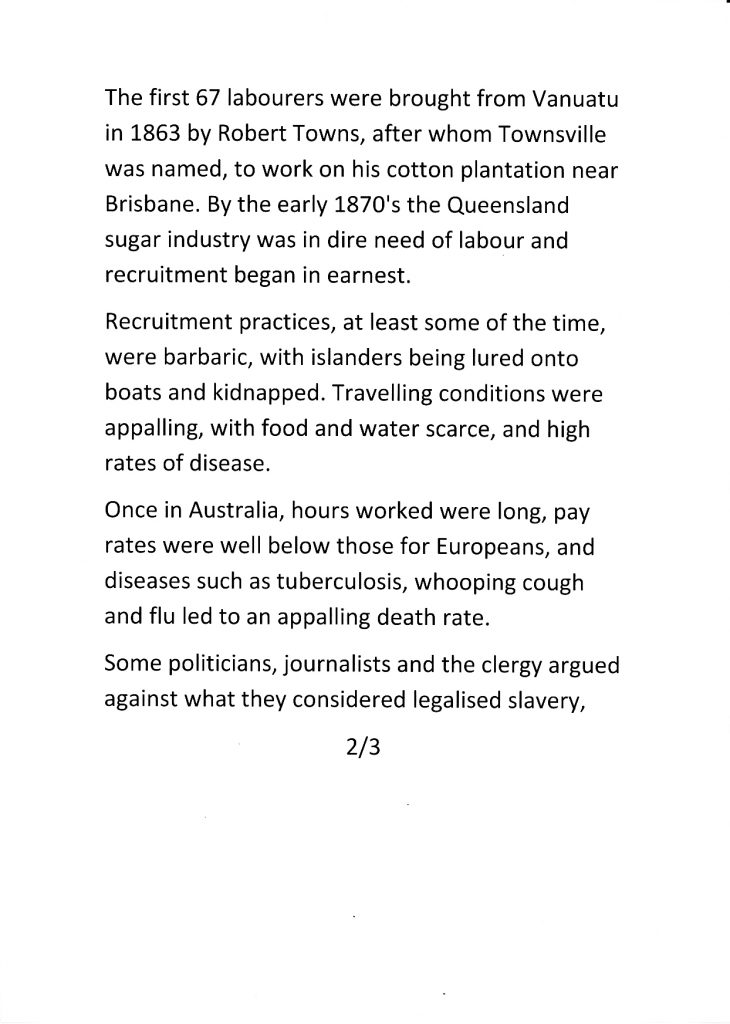 From The South Seas-A brief history 2/3